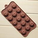 15 hoyos moldes de chocolate torta de la forma del girasol de la jalea de hielo, silicón 22 × 10.5 × 1.5 cm (8.7 × 4.1 × 0.6 pulgadas)