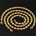 """18k oro grueso collar pulsera figaro lleno de u7 nuevos hombres establece 6mm 21cm con el sello de """"18k"""""""