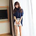 Womens Fashion Irregular Lower Hem Chiffon Long Sleeve Blouse