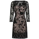 Womens Elegant Half-sleeves Lace Dress