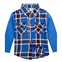 Childrens Fashion Casual Plaid Shirt Long Sleeve Spring Antumn Boys Shirts