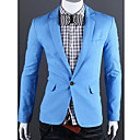 GMIG Men's Long Sleeve Slim A Button Pure Color Suit Blazer