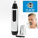oreja nariz eléctrico del pelo facial limpiador recortador afeitadora clipper de alta seguridad (accionado por 1 batería aa)