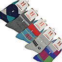 5 Pairs(5 Kinds of Style Each Pair) Men's Sports Leisure in Thick Cotton Socks