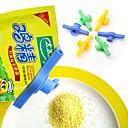 sellar clips circulares de plástico para alimentos boca (color al azar)