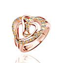 anillo de la forma del corazón de diamantes de la moda de las mujeres de la margarita