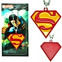 Superman Red Alloy Cosplay Necklace