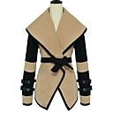de manga larga chaqueta de solapa mujeres de la moda Gemei