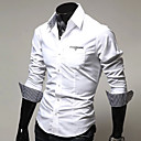 camisa de manga larga de color sólido franja informal nomo