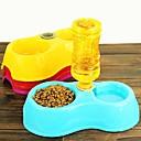 1 piezas de plástico de doble propósito enchufable botella bowl para los animales domésticos (rojoamp;amarilloamp;azulamp;rosa) (1 pc)