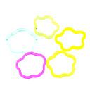1000G Colorful Star Pattern DIY Rainbow Loom Rubber Band  Elastic Woven Bracelets(9 c-dips, 1 Loom ,1 Hook)