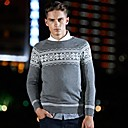 Zian Mens Pullover Fashion Stripes Stitching High Quality Warm Thick Casual Sweater