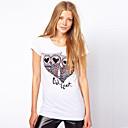 búho de la moda patrón de la camiseta de las mujeres southstore 8102