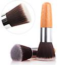 1pcs exquisita natural de bambú cepillo de base mango para polvo / maquillaje imprimación base / base
