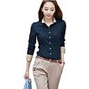 coko estilo coreano de manga larga delgada ol camisa