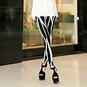 Coway Among The Irregular Thin Black and White Was Nine Minutes of Pants Leggings