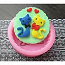 Cat Heart Baking Fondant Cake Choclate Candy Mold,L8.2cmW8.3cmH2.8cm