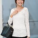 camisa de manga larga de encaje swd estilo coreano (blanco, negro, almendra)