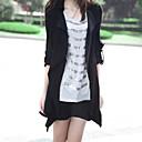 abrigo de gran tamaño ocasional estilo coreano Yiluo (negro)