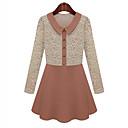 b32014 nueva causal de la moda de invierno largo delgado abrigo de lana de Hitomi mujeres