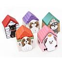 nota caseta del perro diseño de papel autoadhesivo (color al azar)