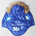 Its All About ME Pattern Cotton-Padded Hoodies Vest for Pets Dogs (Blue Assorted Sizes)