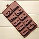 10 hoyos moldes de chocolate pastel de número de forma jalea de hielo, silicón 22 × 11.2 × 2 cm (8,7 × 4,4 × 0,8 pulgadas)