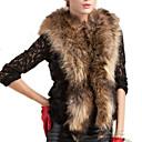 abrigos de piel elegancia v-cuello del temperamento de la moda delgado sin mangas yifulu