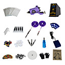 1 Gun Complete No Ink Tattoo Kit with Purple Boss RCA Motor Machine