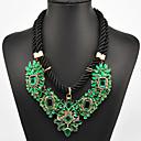 Eternity Womens Green Gem Necklace