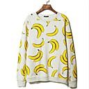 alrededor del cuello de la camiseta de impresión plátano ocasional de los hombres (imprimir al azar)