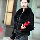 abrigo de cuello de piel de invierno de Nina mujeres 132