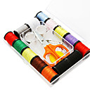 14 Colors Portable Cotton Thread Assortment with Sewing Accessories (Random Package Colors)
