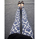 Womens Fashion Tibetan Orchid Flower Pattern Leggings