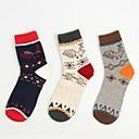 4pairs (4 clases de estilo de cada par) Color de contraste de los hombres la restauración de las medias de algodón retro pavo real patrón polla