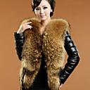 invierno cálido abrigo de piel de imitación l081 gy de las mujeres