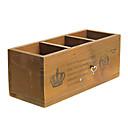 envase de la pluma de juguetes de madera retro caja de música