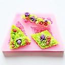 Flower Baking Fondant Cake Chocolate Candy Mold,L8.7cmW5.2cmH1.1cm