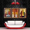 abstracto de color decorativo arte enmarcado de la lona de ajuste de impresión de 3