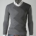 causal de la manera v cuello de los hombres Gezi delgado suéter