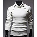 camisa de manga larga de color sólido del collar del soporte ocasional nomo