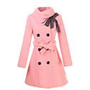 arco delgado abrigo de lana hebilla de Gediao mujeres