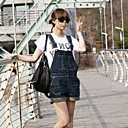 Womens Casual Loose Pocket Denim Jeans Shorts Overalls Jumpsuits