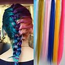 20 pulgadas 15pcs / lot largo puro clip color recta sintético en extensiones de cabello colores aleatorios