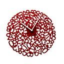 """11.8 """"acrílico w estilo moderno todos los números del reloj de pared de color rojo"""