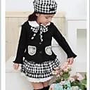 Girls Grid (CoatSkirtHat 3 Pieces) Clothing Sets