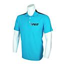 polyester  spandex de pgm hombres azul camisa de polo de golf de manga corta transpirable