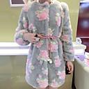 invierno cálido abrigo de piel de imitación l088 gy de las mujeres