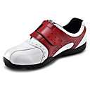 microfibra de cuero roja impermeable transpirable zapatillas de golf de los hombres pgm con cinta de soporte de nylon y clavo de fijación