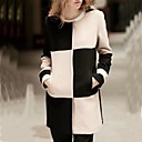 Womens Contrast Color Check Jacket